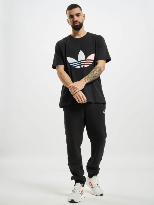 adidas Originals T-shirt Tricolor svart
