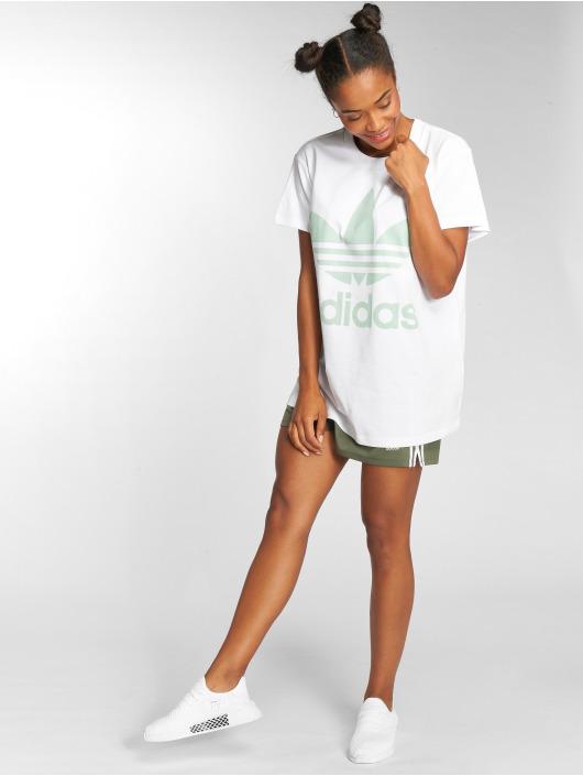 adidas originals T-shirt Big Trefoil vit