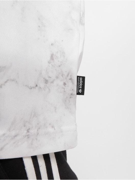 adidas originals T-Shirt Mrble Aop Clb weiß