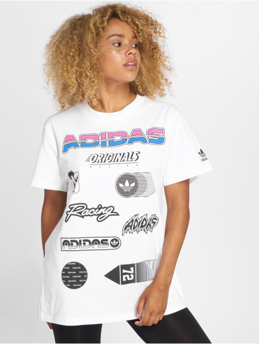 adidas originals T-Shirt Jul Graphic weiß