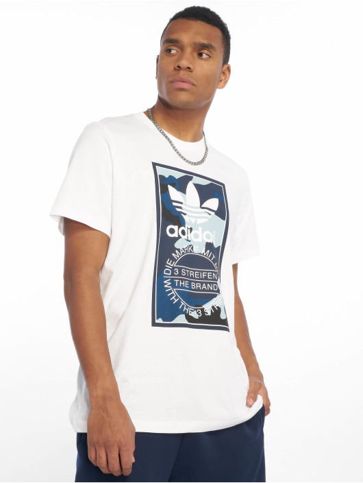 new style 61a00 4020b Adidas Originals Camo T-Shirt White