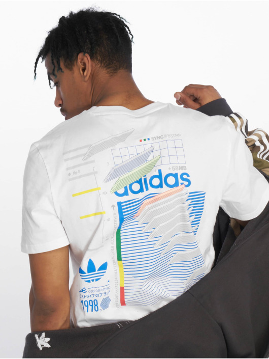 adidas Originals Dodson T Shirt WhiteBlueGreenRea