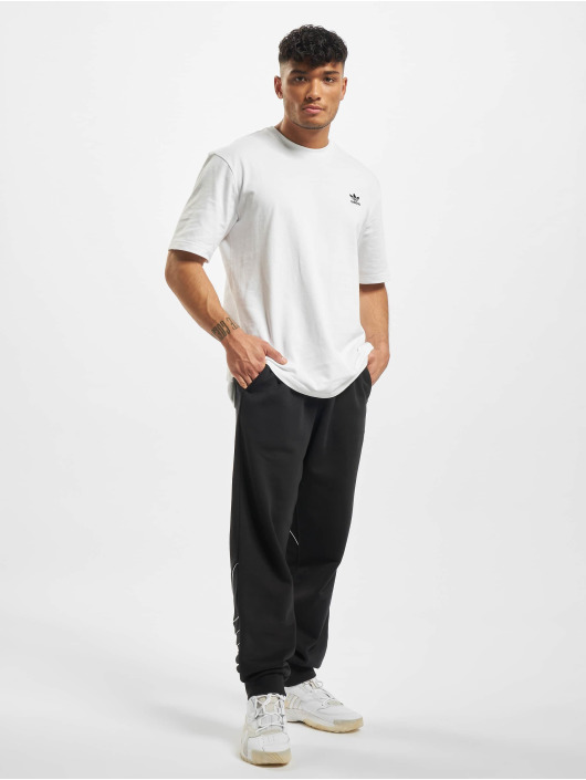 adidas Originals T-Shirt Back and Front Print Trefoil weiß