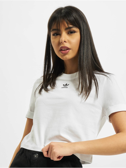 adidas Originals T-Shirt Crop weiß