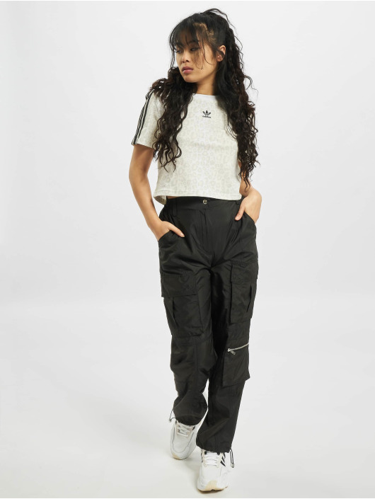 adidas Originals T-Shirt Trefoil Cropped weiß