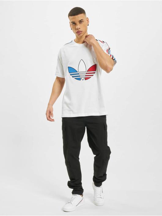 adidas Originals T-Shirt Tricolor weiß