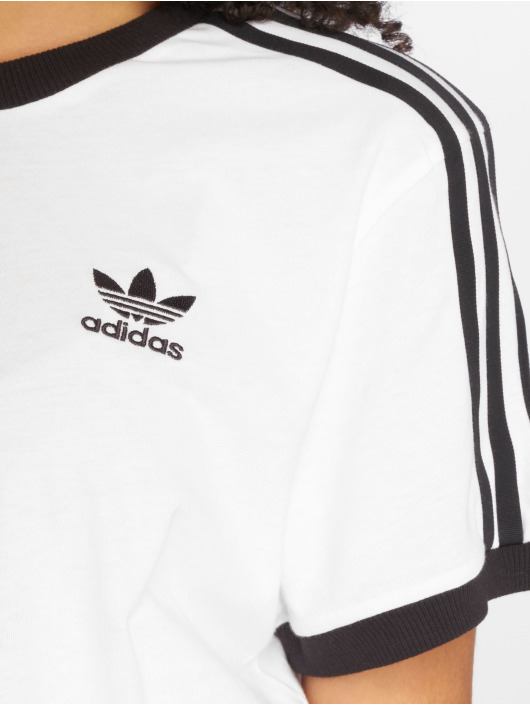 adidas originals t-shirt 3 Stripes wit