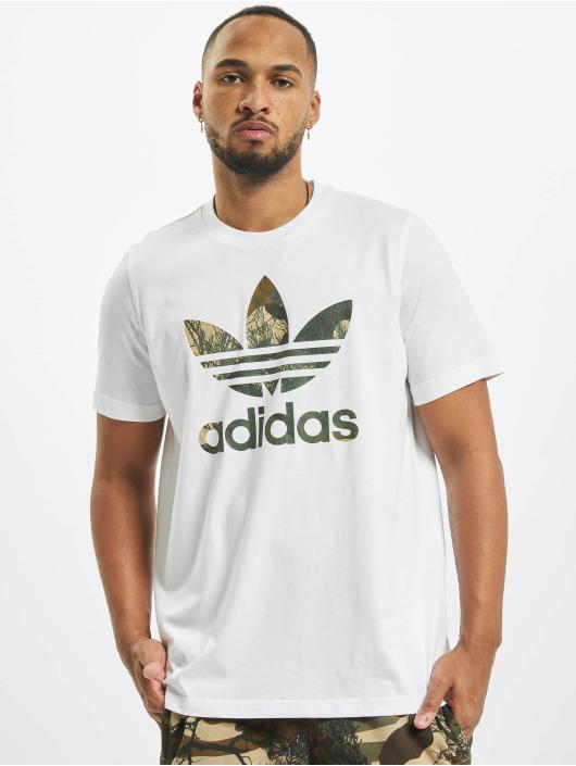 adidas Originals t-shirt Camo Trefoil wit