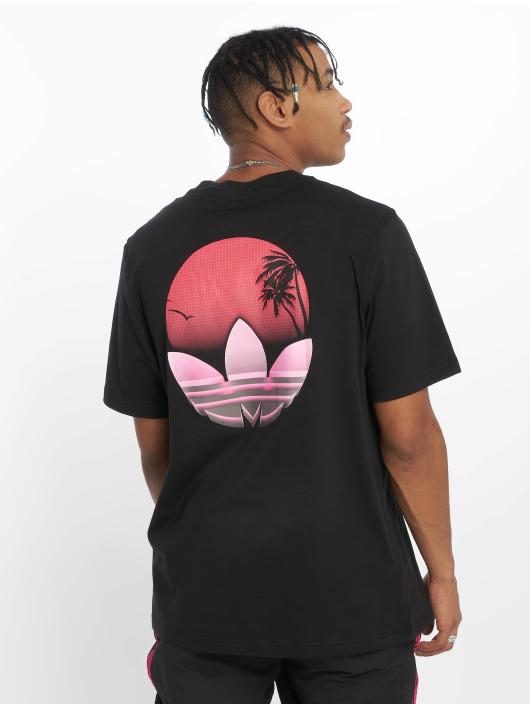 adidas originals t-shirt Tropical zwart