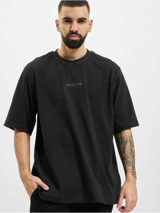 adidas Originals t-shirt Rib Detail zwart