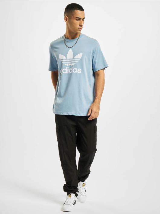 adidas Originals T-shirts Trefoil blå