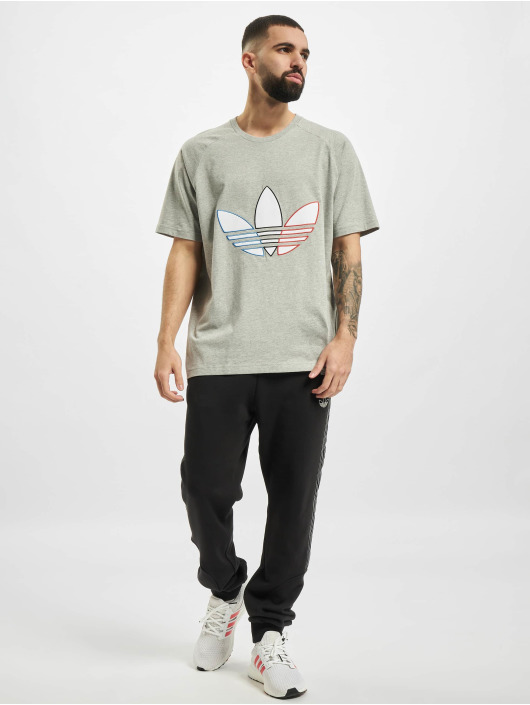 adidas Originals T-shirts Tricolor grå