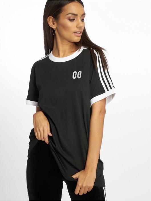 Adidas Originals 3 Stripes T Shirt Black
