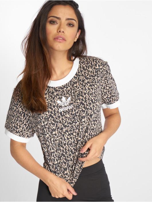 adidas originals T-Shirty LF Cropped bezowy