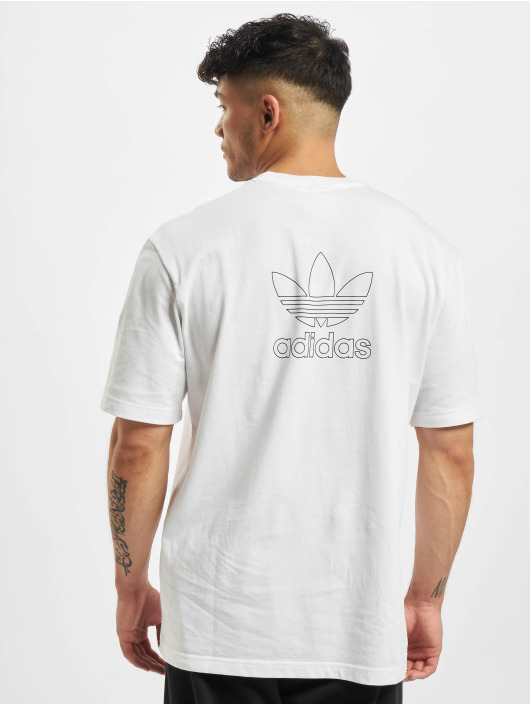 adidas Originals T-Shirty Back and Front Print Trefoil bialy