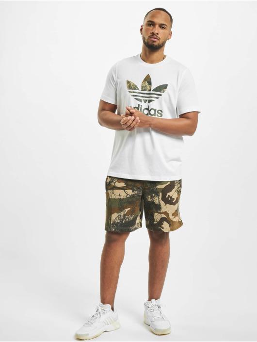 adidas Originals T-Shirty Camo Trefoil bialy