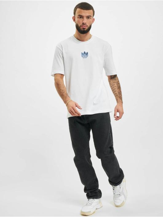 adidas Originals T-Shirty 3D Trefoil bialy