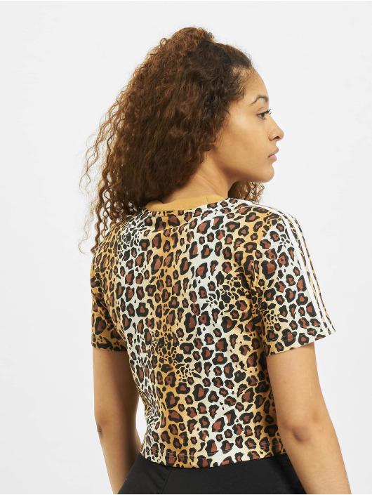 adidas Originals T-Shirty Cropped brazowy