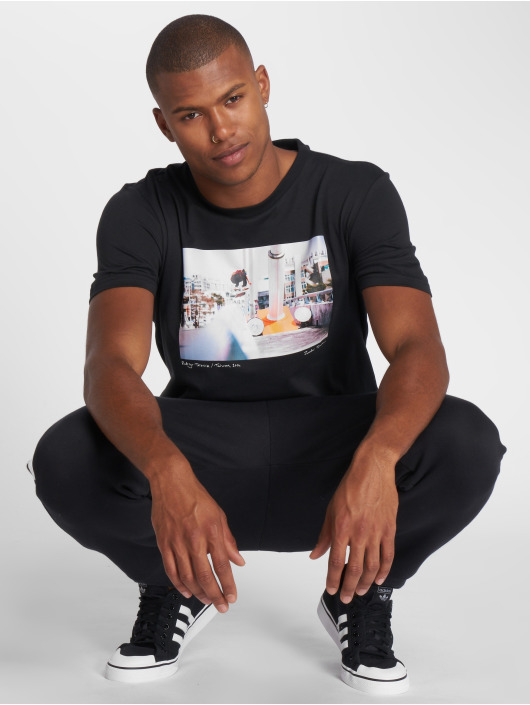 adidas originals T-Shirty City Photo Tee czarny