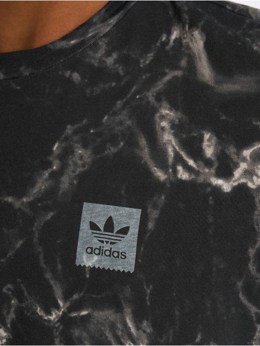 adidas originals T-Shirty Mrbl Stripe czarny