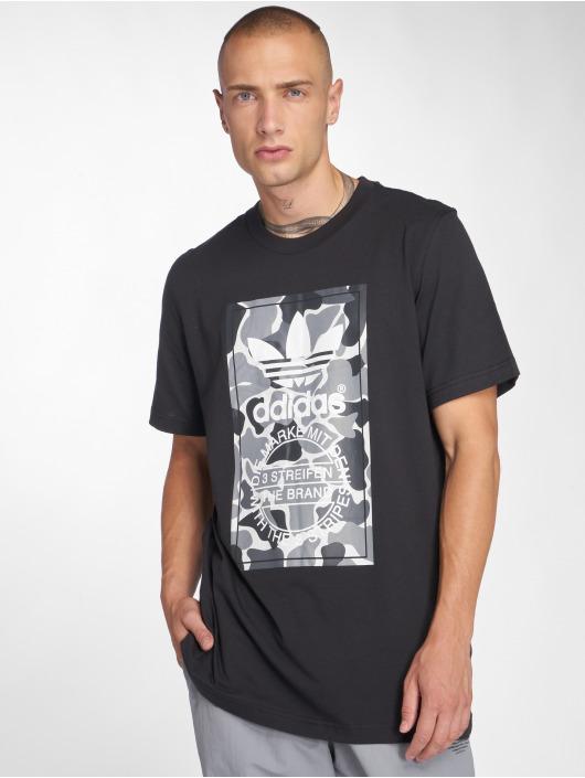 adidas originals T-Shirty Camo Label Tee czarny