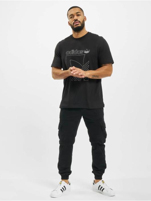 adidas Originals T-Shirty Sport 3-Stripes czarny