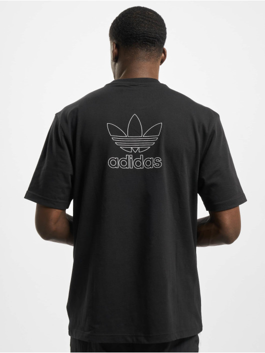 adidas Originals T-Shirty Back and Front Print Trefoil czarny
