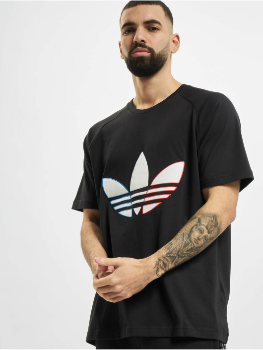 adidas Originals T-Shirty Tricolor czarny