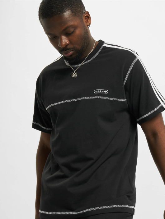 adidas Originals T-Shirty Contrast Stitch czarny
