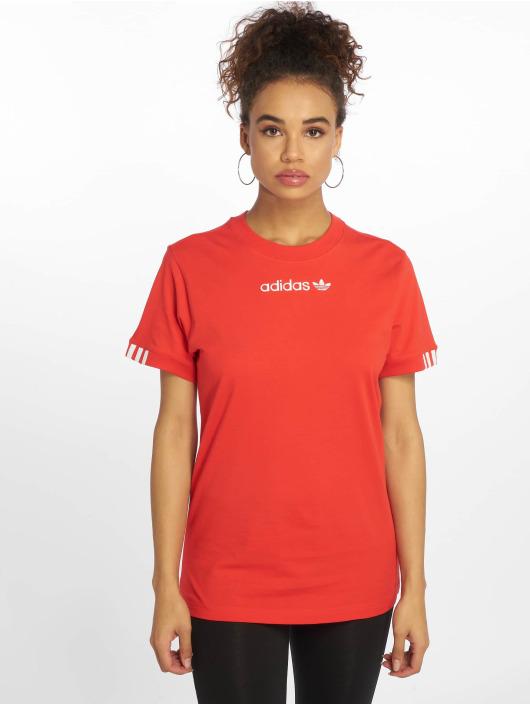 adidas originals T-Shirty Coeeze czerwony