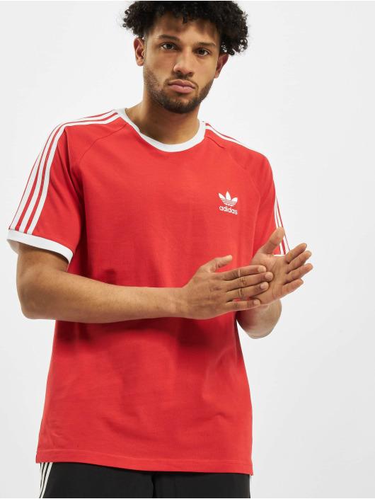 adidas Originals T-Shirty 3-Stripes czerwony
