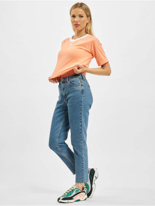 adidas Originals T-Shirty Crop pomaranczowy