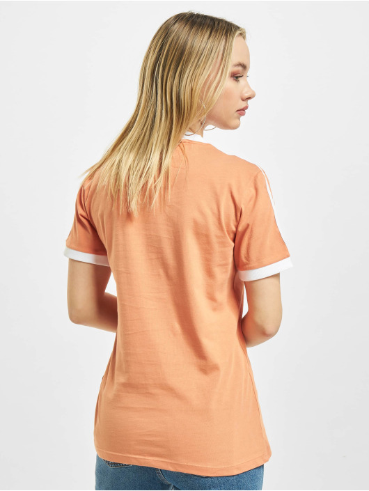 adidas Originals T-Shirty 3 Stripes pomaranczowy