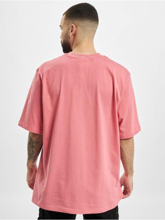 adidas Originals T-Shirty Rib Detail rózowy