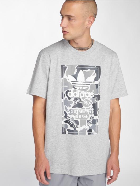 adidas originals T-Shirty Camo Label Tee szary