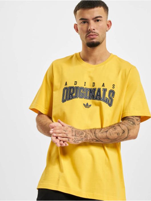 adidas Originals T-Shirty Script zólty