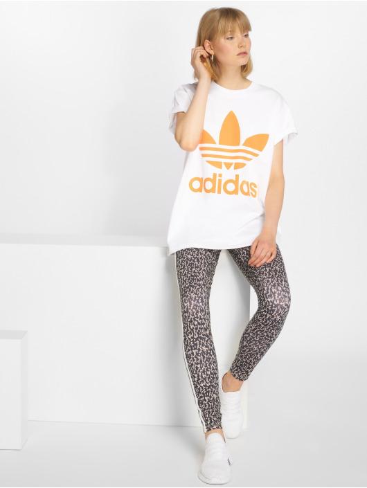 adidas originals T-skjorter Big Trefoil hvit