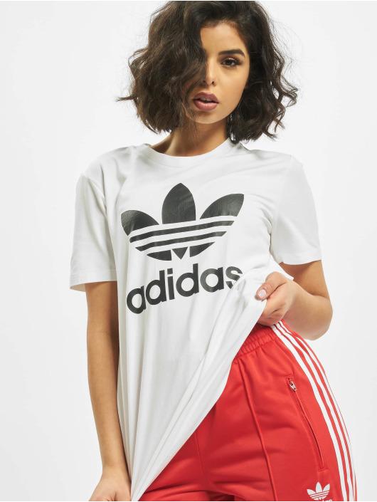 adidas Originals T-skjorter Trefoil hvit