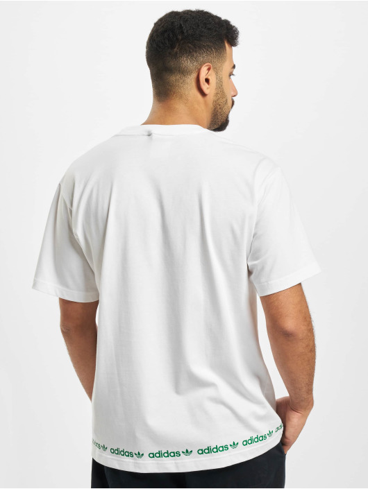 adidas Originals T-skjorter Linear Repeat hvit