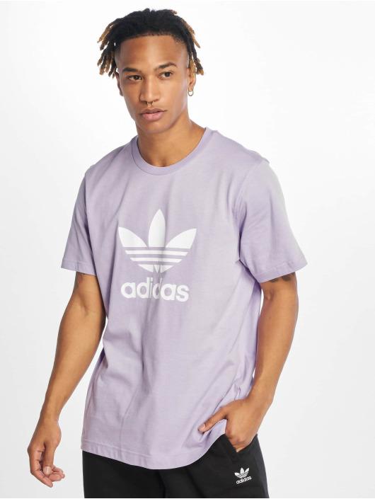 adidas Originals T-skjorter Trefoil lilla