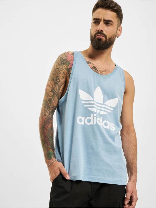 adidas Originals Tank Tops Trefoil Tank blau