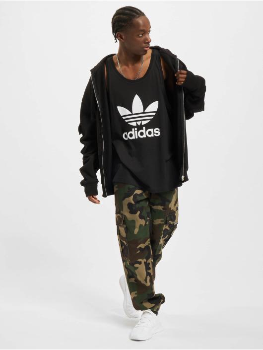 adidas Originals Tank Tops Trefoil svart
