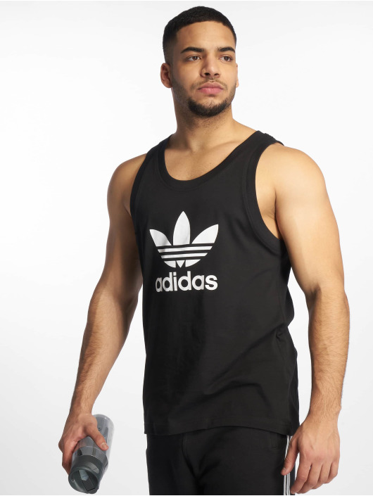 09cd3fd07279c adidas originals Tanktop Trefoil zwart  adidas originals Tanktop Trefoil  zwart ...