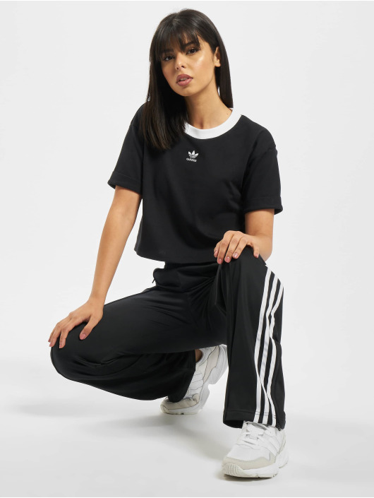 adidas Originals top Crop zwart