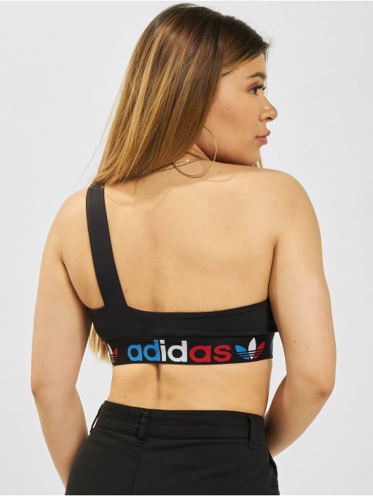 adidas Originals Topper Primeblue Asymmetric One Shoulder svart