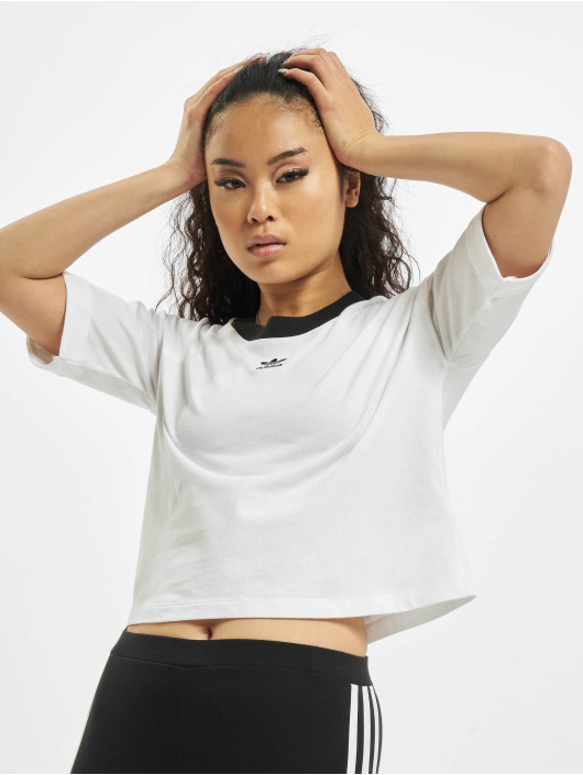 adidas Originals Tops sans manche Crop blanc