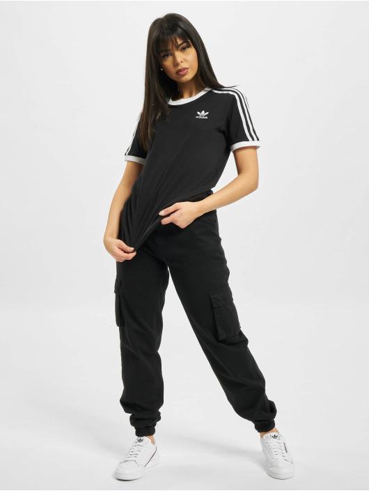 adidas Originals Tričká 3 Stripes èierna