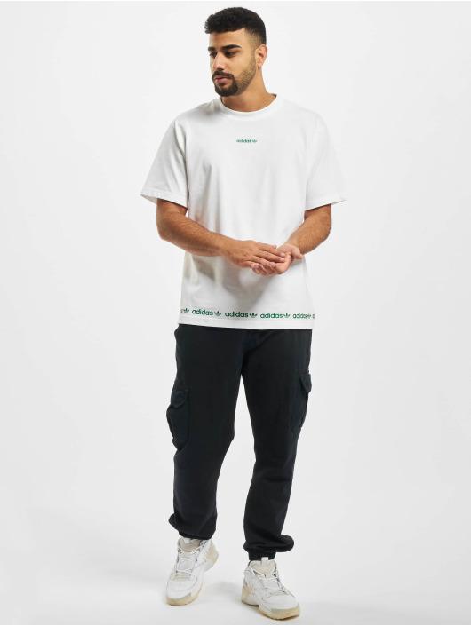 adidas Originals Tričká Linear Repeat biela