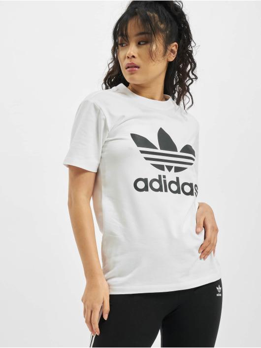 adidas Originals Tričká Trefoil biela