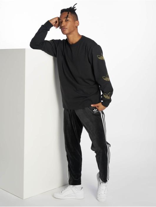 adidas originals Tričká dlhý rukáv Trefoil èierna